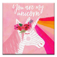 Load image into Gallery viewer, You Are My Unicorn  Birthday Thumbtack Canvas Art Card