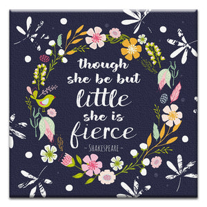 She Is Fierce  All Occasion Thumbtack Canvas Art Card