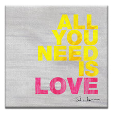 Load image into Gallery viewer, All You Need Is Love  Love Thumbtack Canvas Art Card