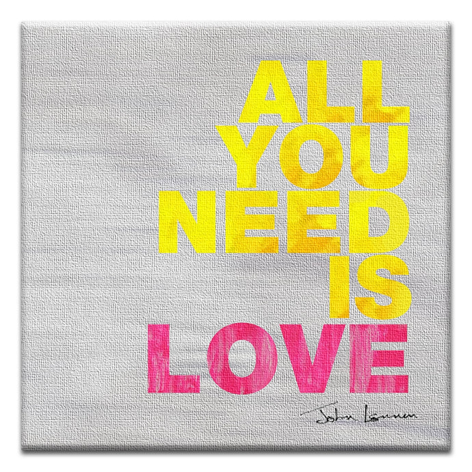 All You Need Is Love  Love Thumbtack Canvas Art Card