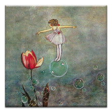 Load image into Gallery viewer, Fairy on a Bubble  Birthday Thumbtack Canvas Art Card