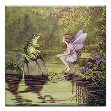 Load image into Gallery viewer, Fairy and Frog  Friendship Thumbtack Canvas Art Card