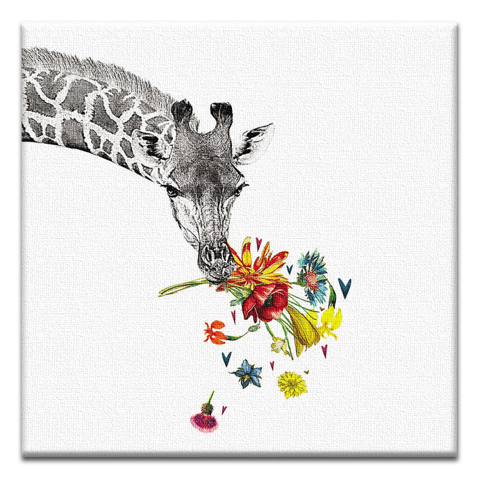 Checking in Giraffe  Support Thumbtack Canvas Art Card