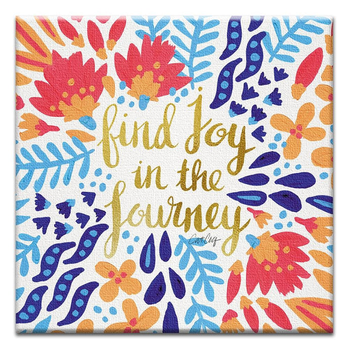 Joy in the Journey  Birthday Thumbtack Canvas Art Card