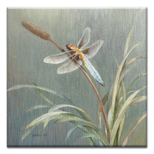 Load image into Gallery viewer, Danhui Dragonfly  All Occasion Thumbtack Canvas Art Card