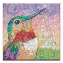 Load image into Gallery viewer, Encouraging Hummingbird  Encouragement Thumbtack Canvas Art Card