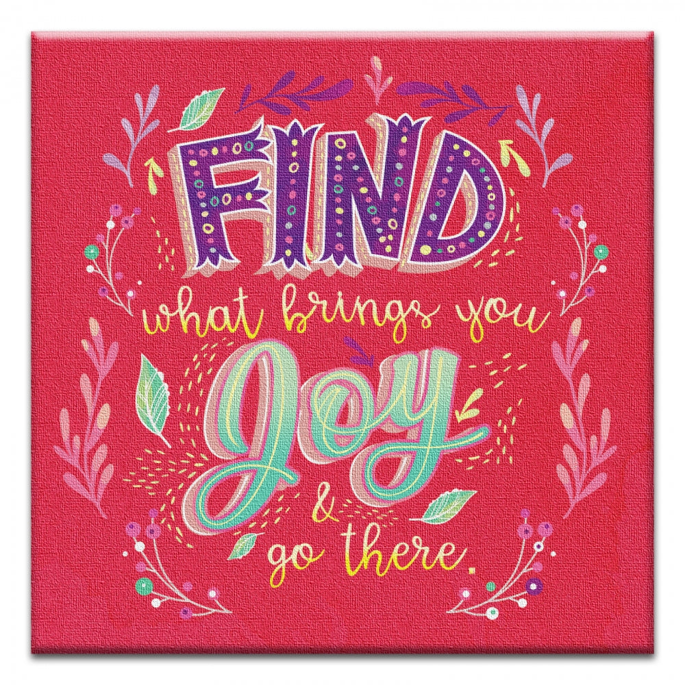 What Brings You Joy  Encouragement Thumbtack Canvas Art Card