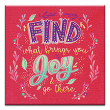 Load image into Gallery viewer, What Brings You Joy  Encouragement Thumbtack Canvas Art Card