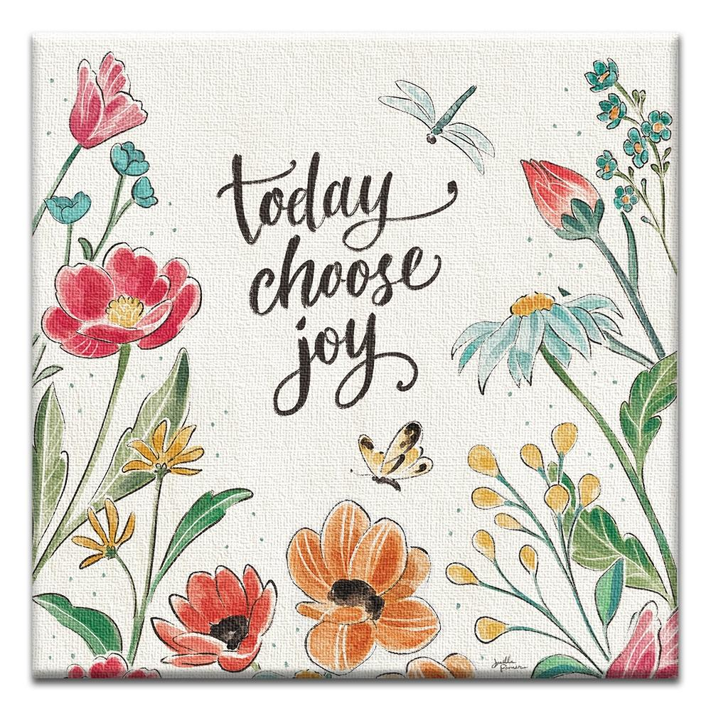 Today Choose Joy  Birthday Thumbtack Canvas Art Card