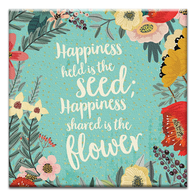Happiness Shared  Friendship Thumbtack Canvas Art Card