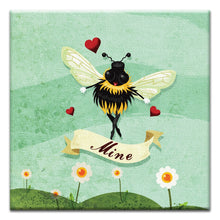 Load image into Gallery viewer, Bee Mine  Love Thumbtack Canvas Art Card
