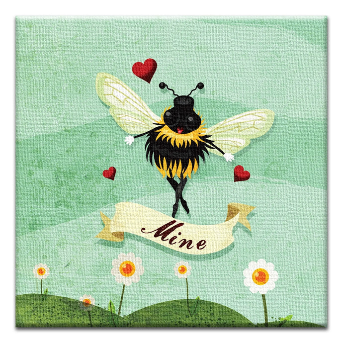 Bee Mine  Love Thumbtack Canvas Art Card