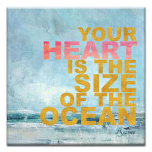 Load image into Gallery viewer, The Size of the Ocean  All Occasion Thumbtack Canvas Art Card