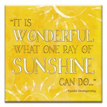 Load image into Gallery viewer, One Ray of Sunshine  Encouragement Thumbtack Canvas Art Card