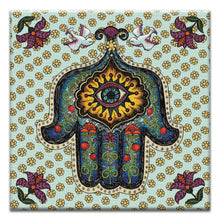 Load image into Gallery viewer, In Safe Hands Hamsa  All Occasion Thumbtack Canvas Art Card