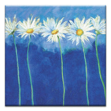 Load image into Gallery viewer, Daisies on Blue  All Occasion Thumbtack Canvas Art Card