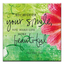 Load image into Gallery viewer, Your Smile  All Occasion Thumbtack Canvas Art Card