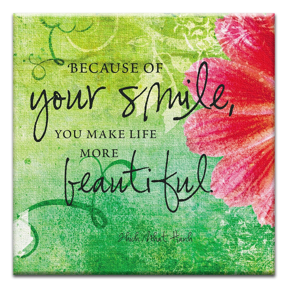 Your Smile  All Occasion Thumbtack Canvas Art Card