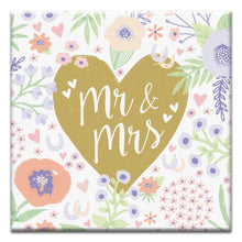 Load image into Gallery viewer, Mr. And Mrs. Floral Wedding Thumbtack Canvas Art Card