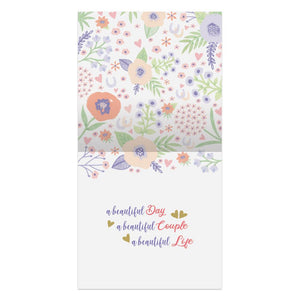 Mr. And Mrs. Floral Wedding Thumb-Tack Canvas Art Card