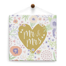 Load image into Gallery viewer, Mr. And Mrs. Floral Wedding Thumb-Tack Canvas Art Card