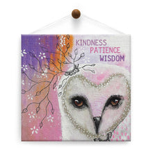 Load image into Gallery viewer, Kindness Owl All Occasion Thumb-Tack Canvas Art Card