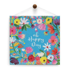 Happy Day Birthday Thumb-Tack Canvas Art Card