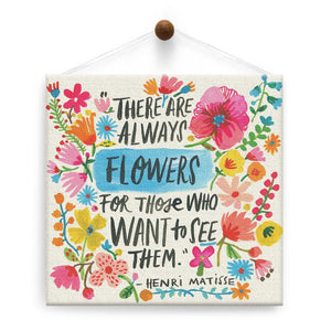 Matisse Flowers Encouragement Thumb-Tack Canvas Art Card
