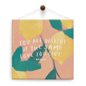 You Are Worthy Support Thumb-Tack Canvas Art Card