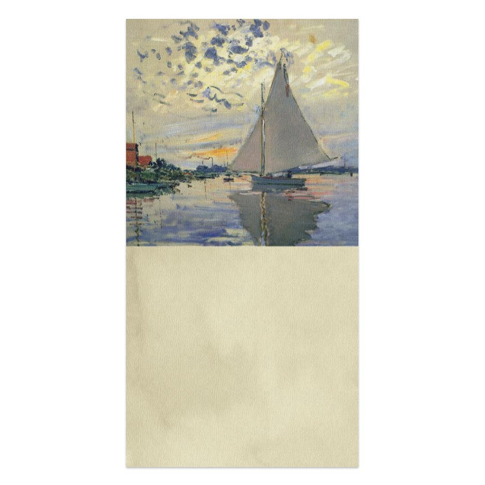 Monet Sailboat All Occasion Thumb-Tack Canvas Art Card