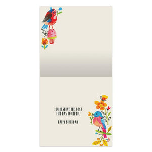 Best Life Birthday Thumb-Tack Canvas Art Card