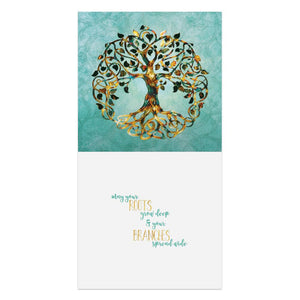 Deep Roots Wedding Thumb-Tack Canvas Art Card