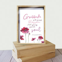 Load image into Gallery viewer, Gratitude Blossoms 4x6 Thank You Bamboo Box Notecard Sets