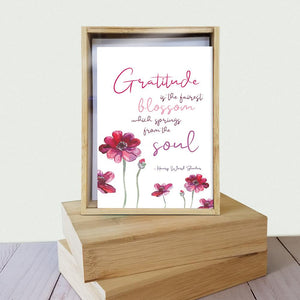 Gratitude Blossoms 4x6 Thank You Bamboo Box Notecard Sets
