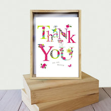 Load image into Gallery viewer, Flowery Thanks 4x6 Thank You Bamboo Box Notecard Sets