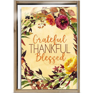 Grateful Blessed 4x6 Thank You Bamboo Box Notecard Sets