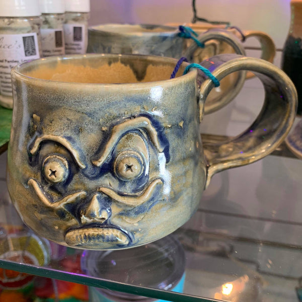Grumpy Mug! Hand crafted and sculpted in Milwaukee