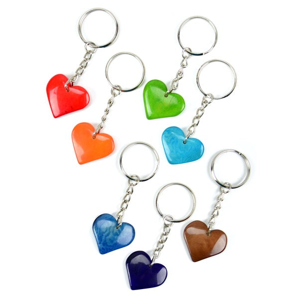 Tagua Heart Key Chain Fair Trade