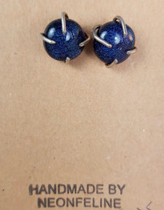 Blue Semi-precious Stone Earrings. Sterling Hand created light weight