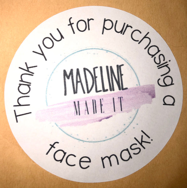Local Made 100% Cotton Masks W/insert by Madeline