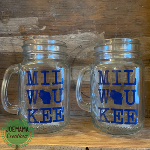 Milwaukee Mason Jar Glassware