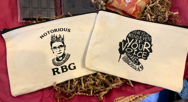 RBG pouches w/zipper. Cotton.
