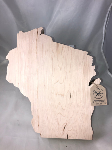 Wisconsin Cutting Board. Hand Crafted. Local Wood