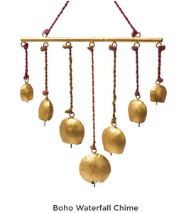 BohoBrass India Bell Chime.  Fair Trade. India