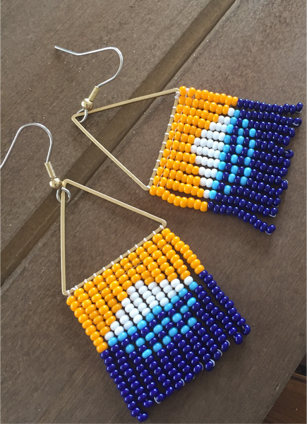 Boho Milwaukee Beaded Earrings.