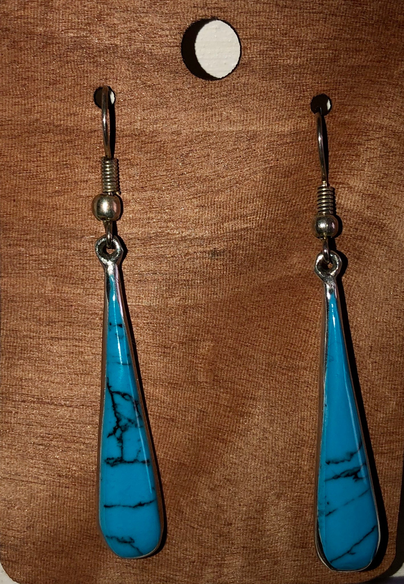 Turquoise Fair Trade earrings. Hand crafted. Taxco, Mexico