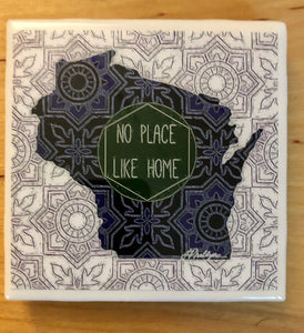 WI Art Coaster. No Place Like Home