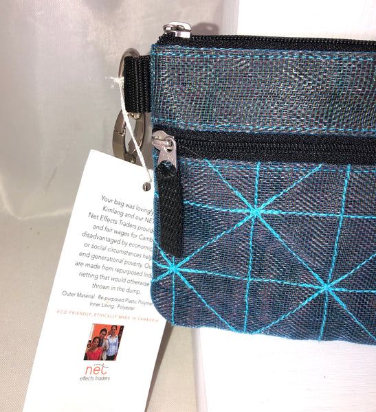 Fair trade clutch. Upcycled fishing nets. Cambodia