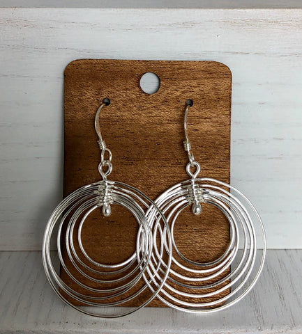Mexican fair trade sterling earring hoops