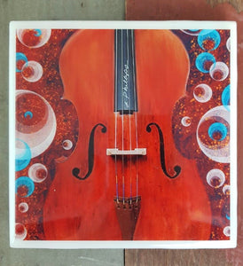 String Music  Coaster - hand designed Milwaukee